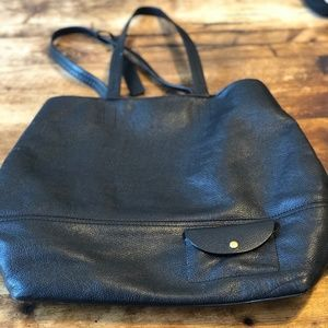 J.Crew All Day Tote - Black Leather